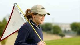 Blanca Fernández Ochoa, jugando al golf.