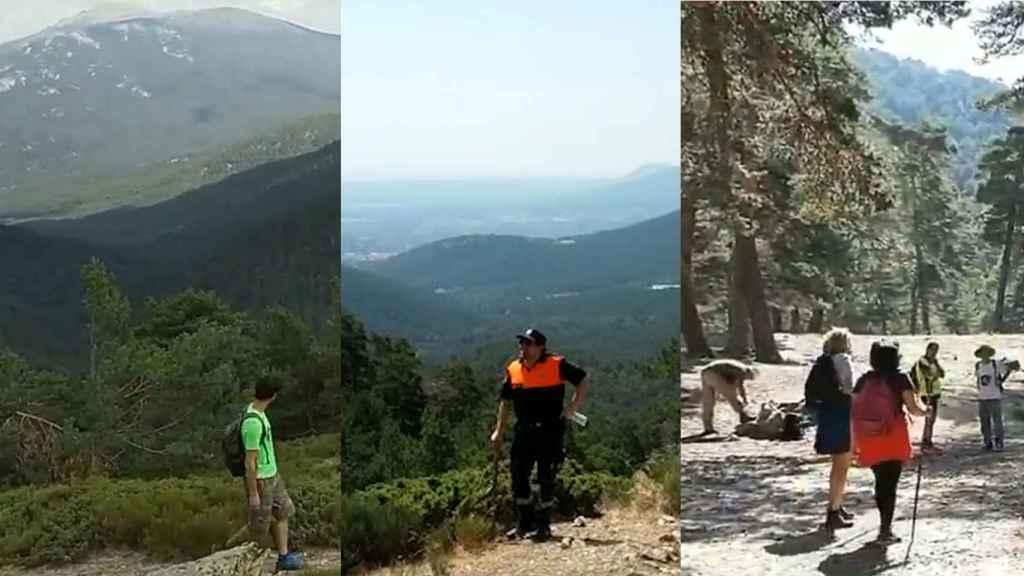 Algunas imágenes de las batidas por la montaña.