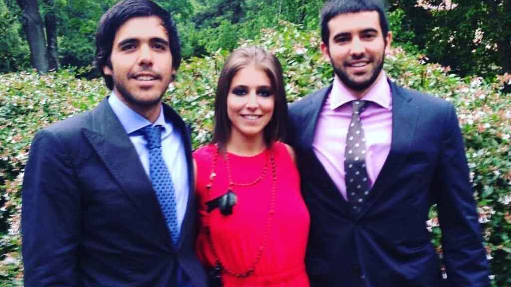Javier, Carmen y Miguel en la boda de Tatiana Shin.