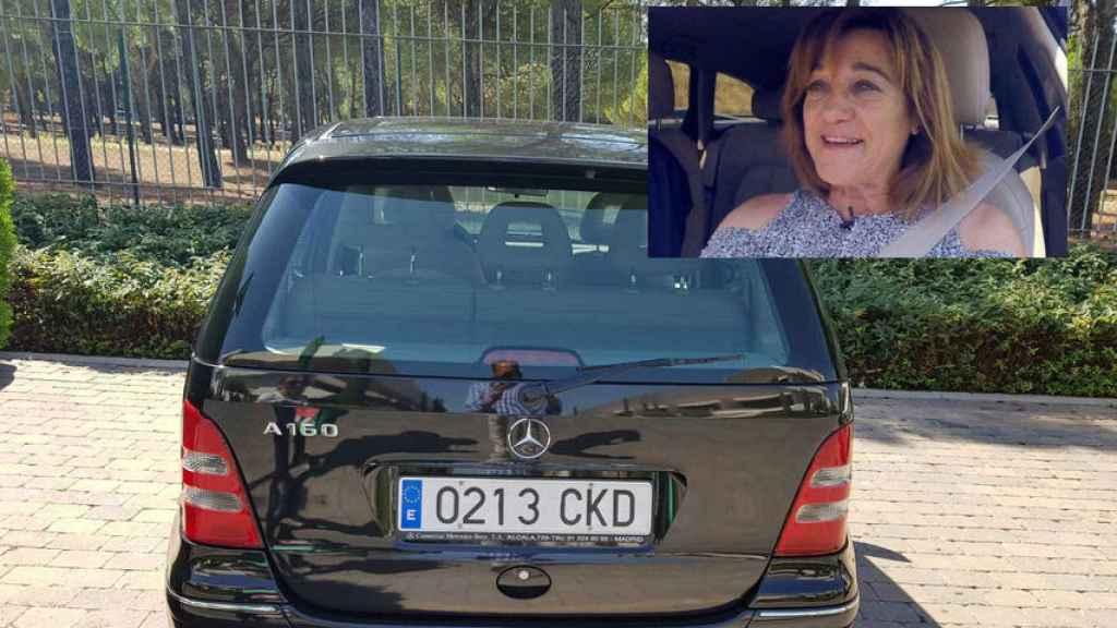 El coche en el que desapareció Blanca y fue encontrado por su hermano en Cercedilla.