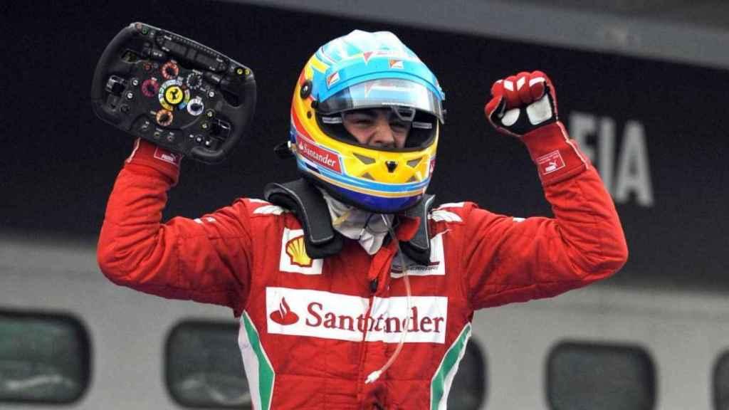 Fernando Alonso, tras ganar en Silverstone 2011