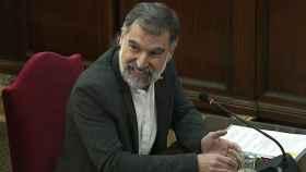 Jordi Cuixart, presidente de Ómnium Cultural, durante el juicio del 'procés'.