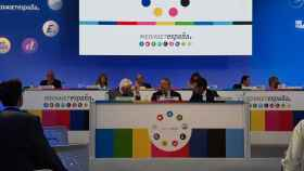 Imagen de la junta de accionistas de Mediaset España en la que se aprobó su fusión.