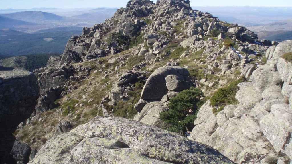 El Pico de la Peñota (Segovia), donde se ha encontrado el cadáver de una mujer.