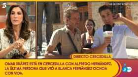 Paz Padilla durante la conexión en directo con Cercedilla.