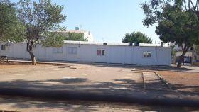 El colegio público Joan Veny i Clar, en Campos, lleva más de diez años en barracones.