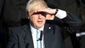 Boris Johnson, este jueves en una visita  a West Yorkshire
