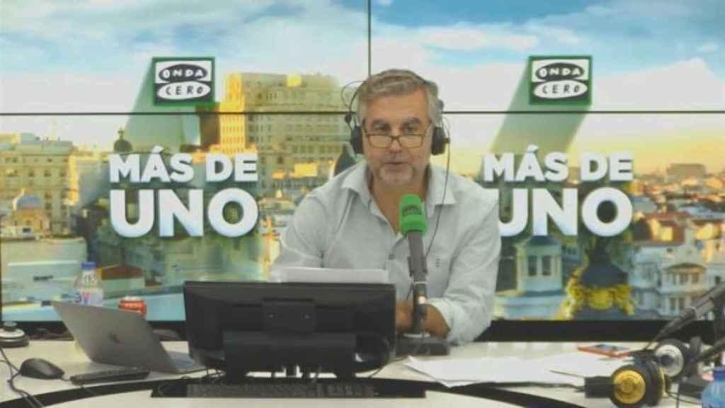 Carlos Alsina, en su programa 'Más de uno', en Onda Cero.
