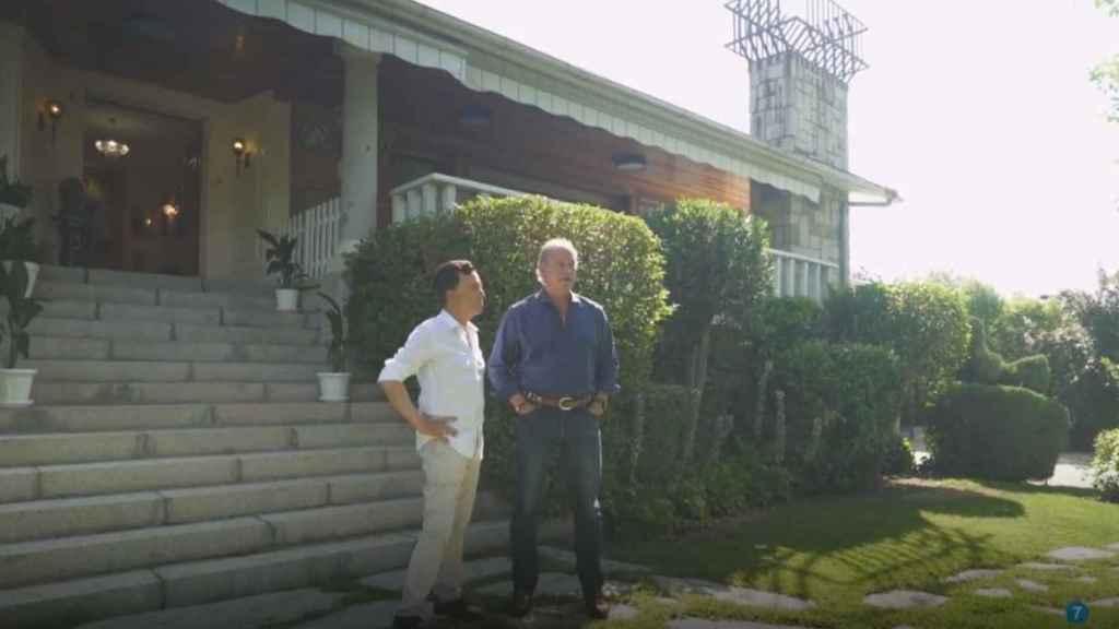 Ortega Cano y Bertín Osborne durante el programa 'Mi casa es la tuya'.