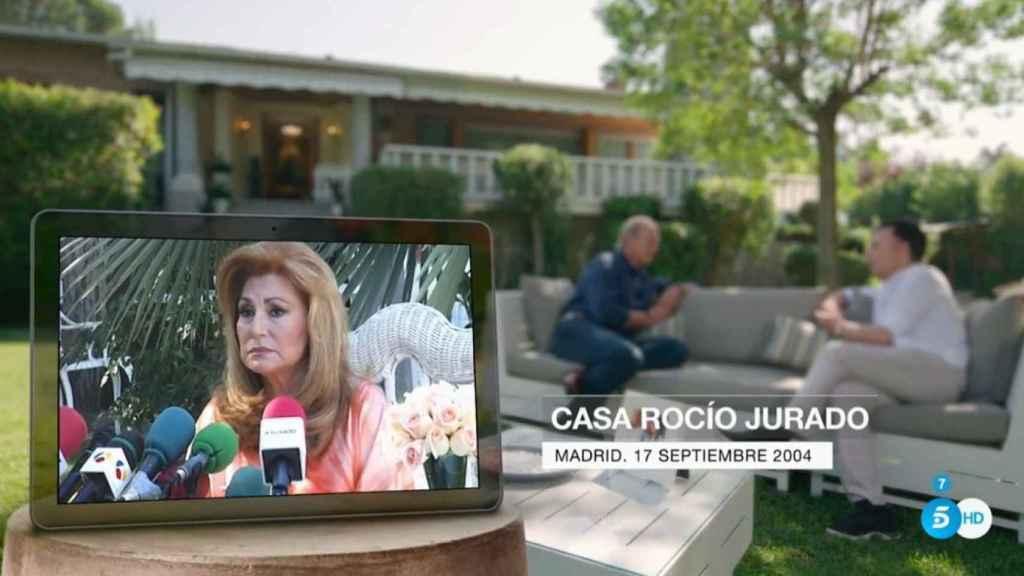 Rocío Jurado en el momento en que confesó que padecía cáncer de páncreas.