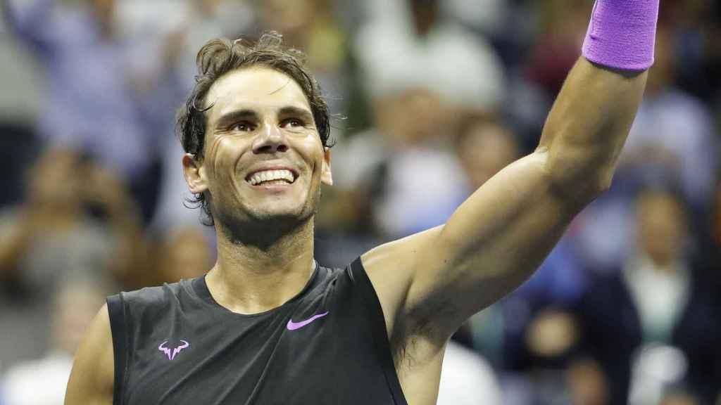 Rafa Nadal tras clasificarse a la final del US Open.