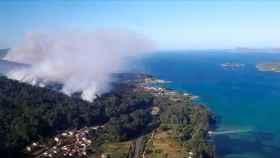 El incendio de Porto do Son, en Galicia.