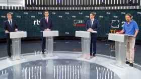 Imagen del debate a cuatro celebrado de cara al 28-A en RTVE.