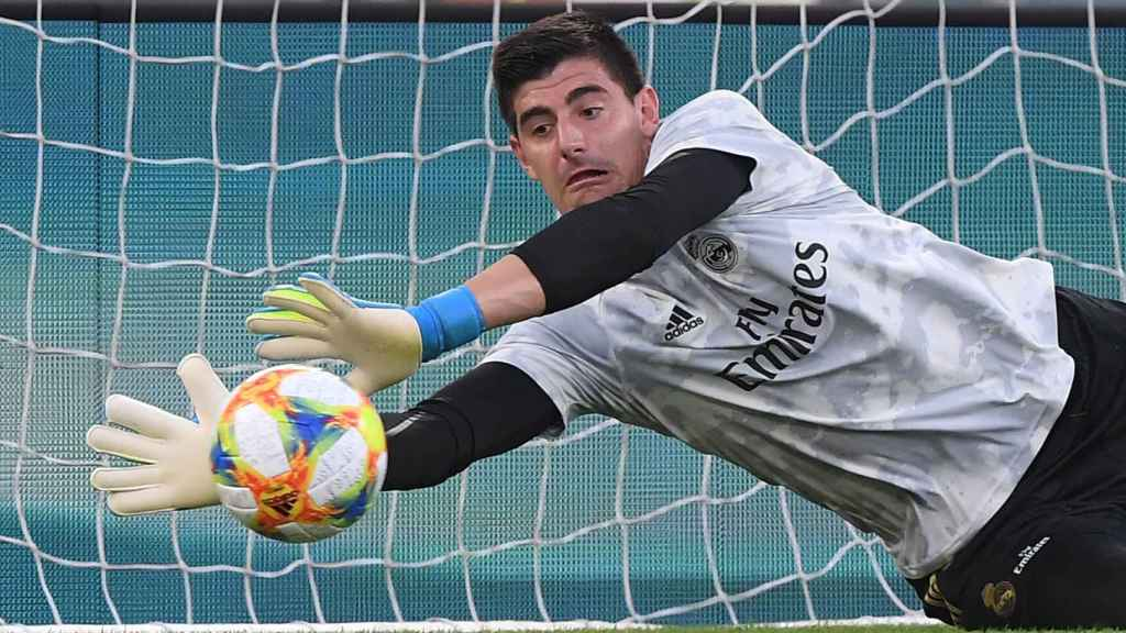 Courtois con el Real Madrid.