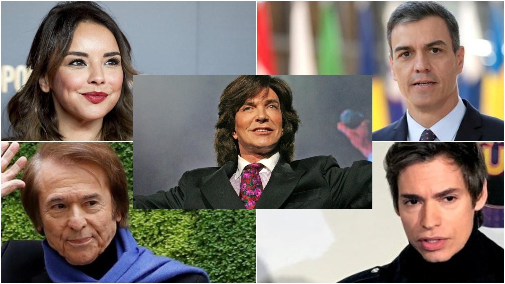 Chenoa, Raphael, Pedro Sánchez, Carlos Baute y Camilo Sesto en un combo de Jaleos.