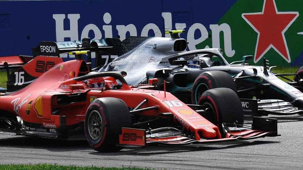 Leclerc, junto a Bottas en el Gran Premio de Italia