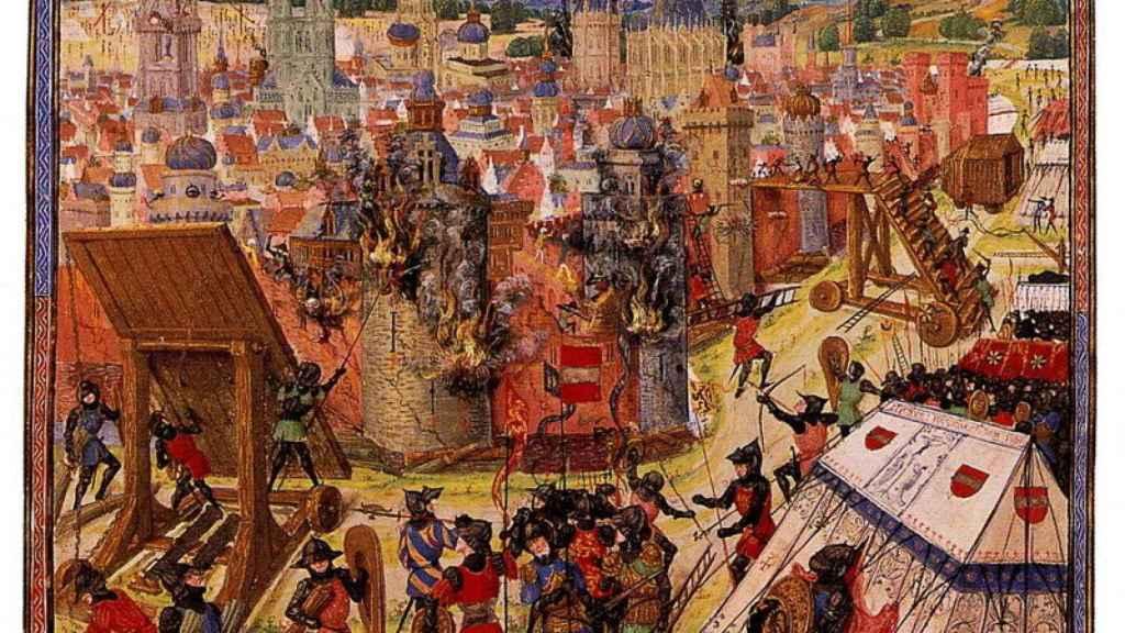 Una ilustración medieval de la captura de Jerusalén durante la Primera Cruzada.