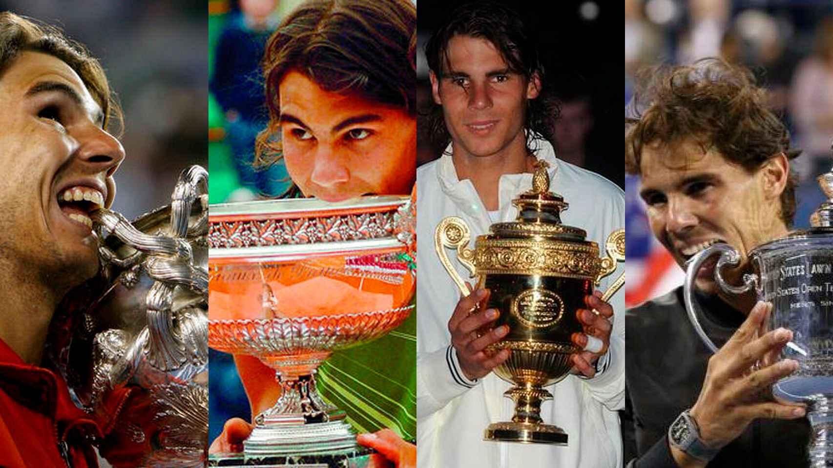Los 19 Grand Slams conquistados por Rafa Nadal en su carrera