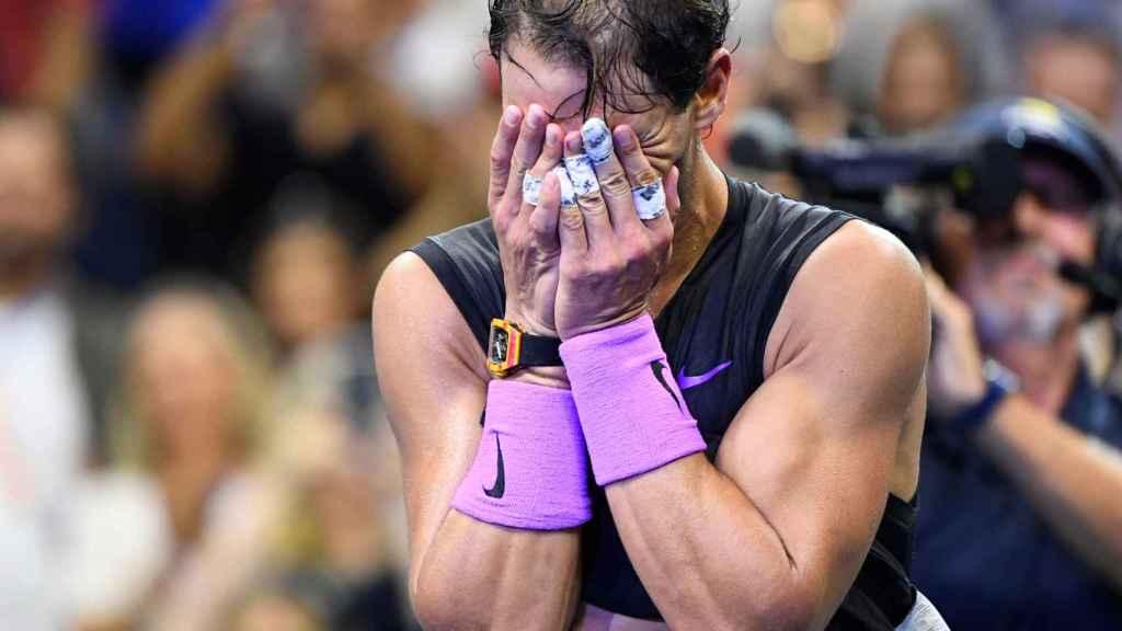 Las lágrimas de Nadal tras ganar el US Open 2019