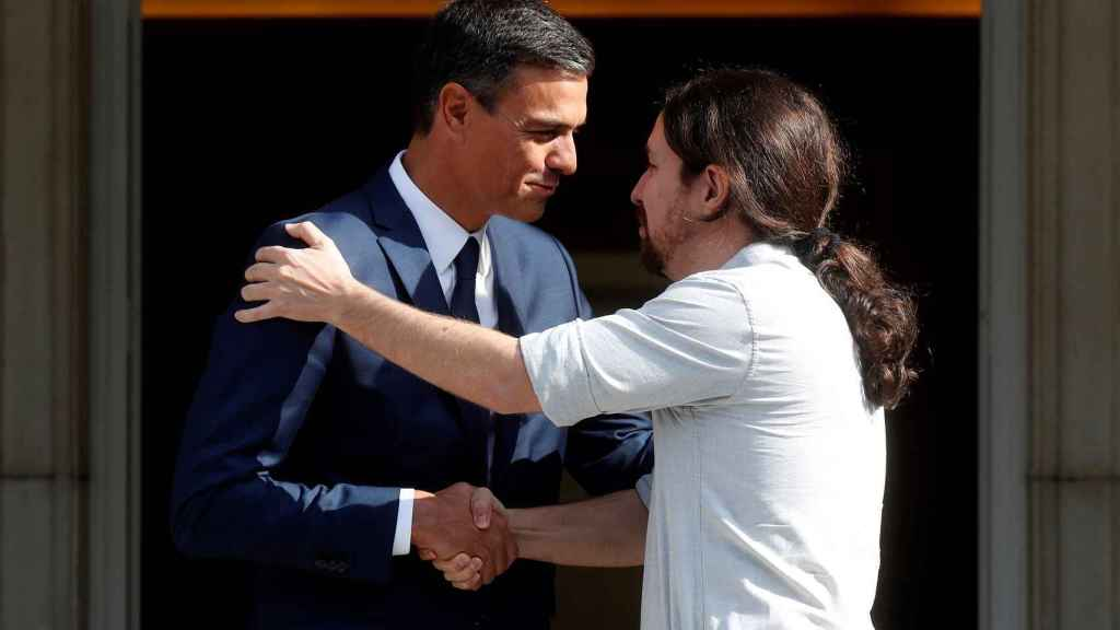 Pedro Sánchez y Pablo Iglesias.
