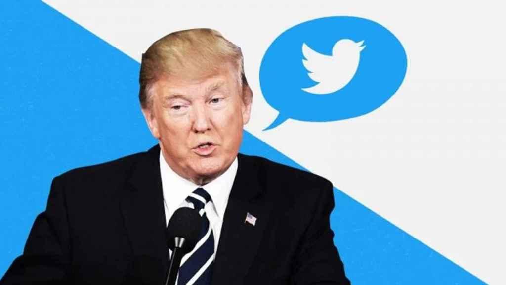 Montaje de Donald Trump y Twitter