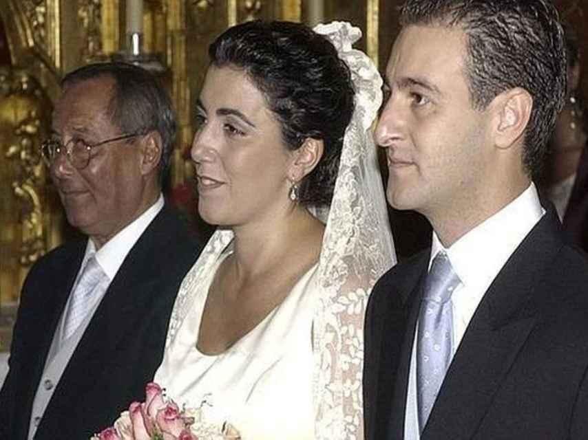 Susana Díaz el día de su boda con José María Moriche.