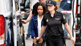 Ana Julia llegando a la segunda sesión del juicio por el asesinato de Gabriel Cruz