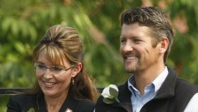 Sarah Palin junto a su todavía esposo, Todd Palin.