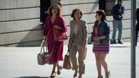 María Jesús Montero, Carmen Calvo y Adriana Lastra este martes en el Congreso