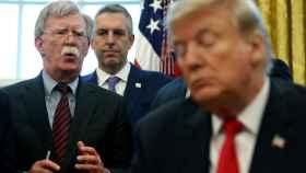 Bolton y Trump en una imagen de archivo