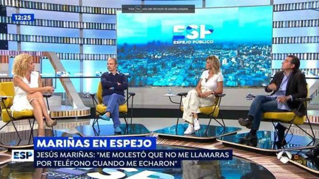 Mariñas en el plató de 'Espejo Público'.
