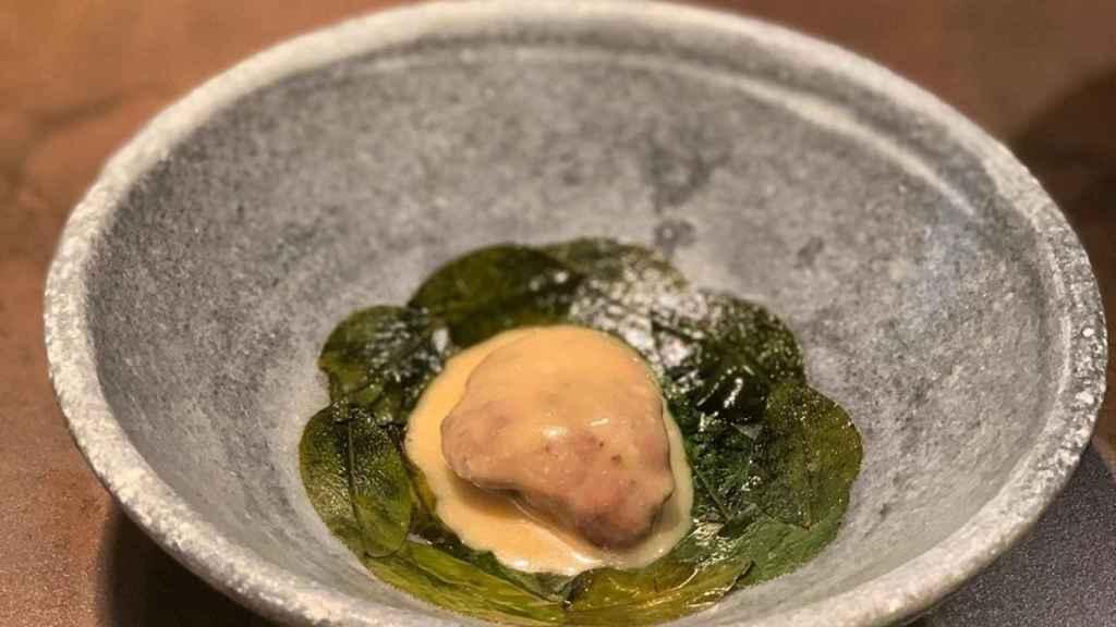 Una de las creaciones de su chef, Diego Guerrero
