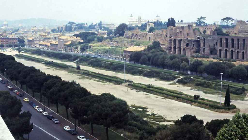 El Circo Máximo de Roma en 1978.