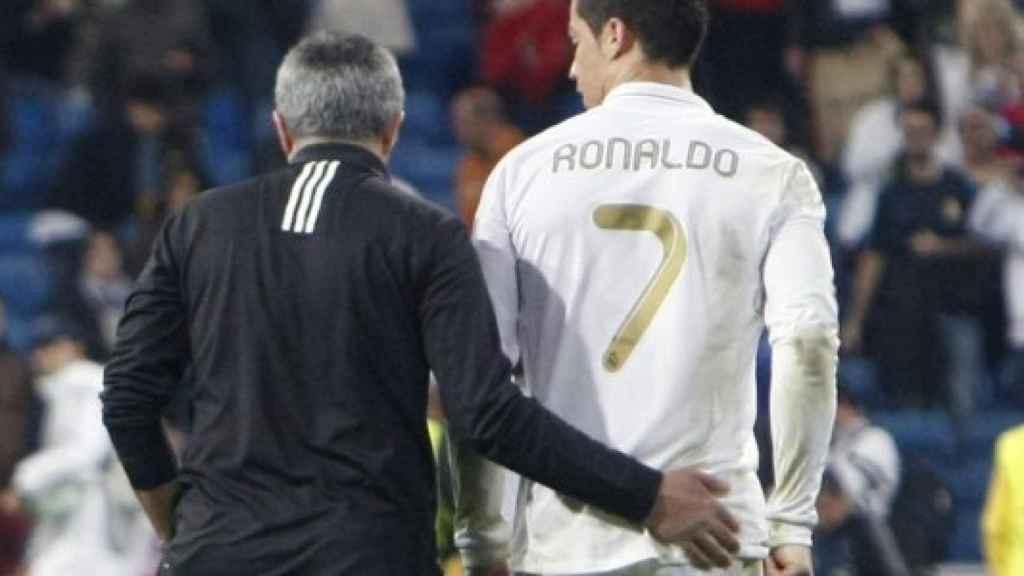 Mourinho y Cristiano Ronaldo en su época en el REal Madrid.