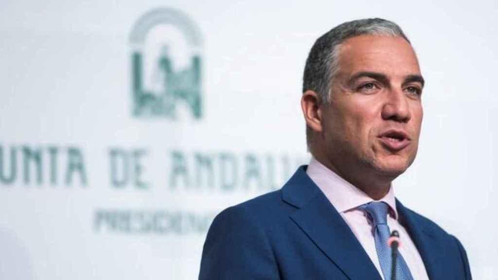 El portavoz del Gobierno andaluz, Elías Bendodo, este miércoles en Sevilla.