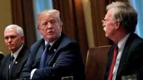 El presidente de Estados Unidos, Donald Trump, junto a John Bolton, en ese momento asesor de Seguridad Nacional.