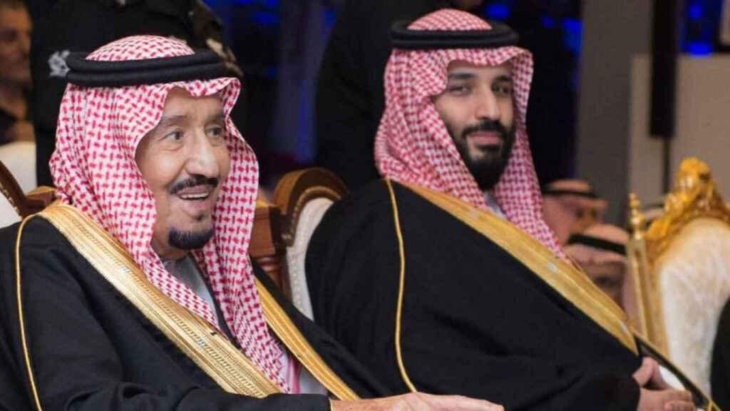 El rey Salmán bin Abdluzaziz y su heredero, el príncipe Mohamen bin Salman.