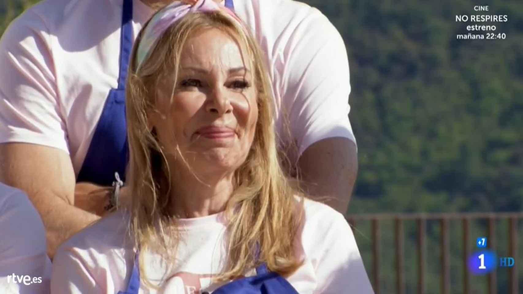 Ana García Obregón en un momento del estreno de 'MasterChef Celebrity'.