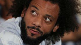 Marcelo, en el banquillo con el Real Madrid