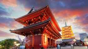 Un templo histórico de Tokio.