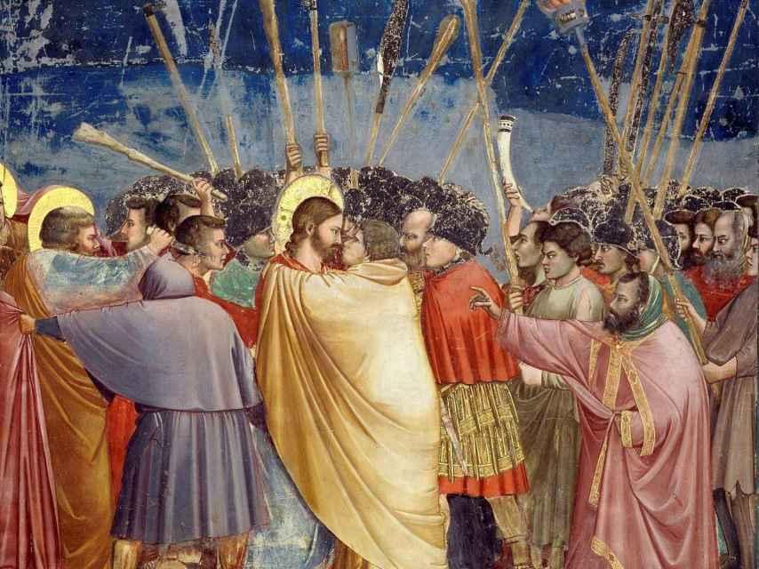 Jesús y Judas, por Giotto.
