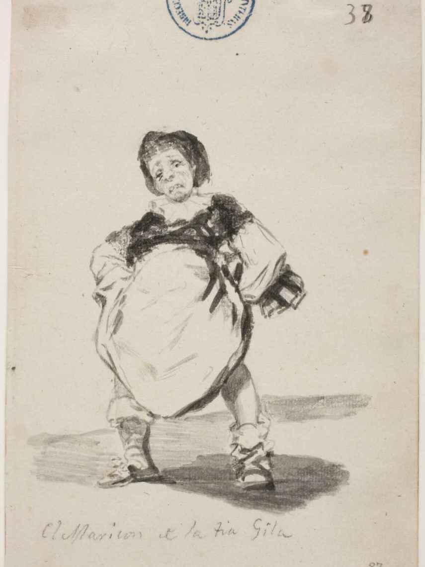 El maricónd e la tía Gila. Francisco de Goya.