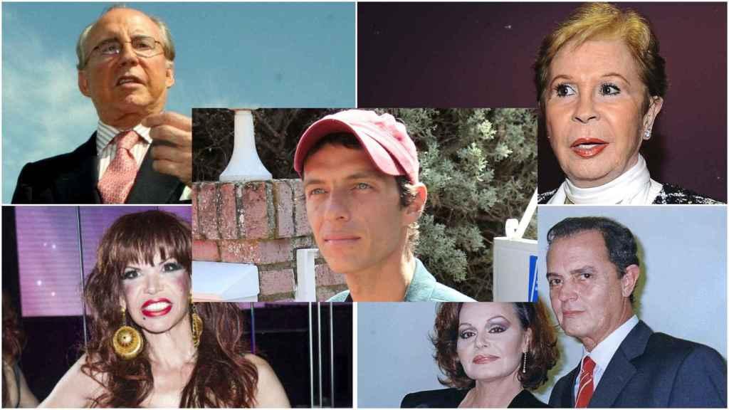 Montaje de Ruiz Mateos, Lina Morgan, 'La Veneno', 'Junior' y 'Camilín' en el centro.