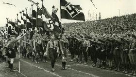 Desfile de las Juventudes Hitlerianas antes de la II Guerra Mundial.