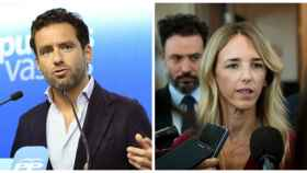 Borja Sémper y Cayetana Álvarez de Toledo, portavoces del PP en el Parlamento Vasco y el Congreso.
