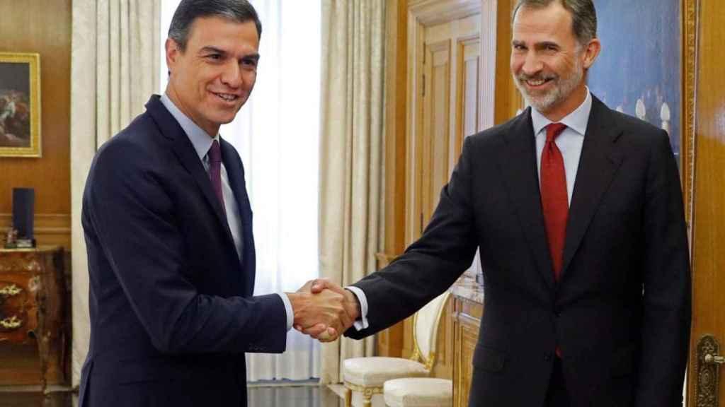 El Rey y Pedro Sánchez en su último encuentro en Zarzuela.
