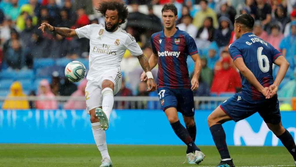 Marcelo se adelanta a dos jugadores del Levante