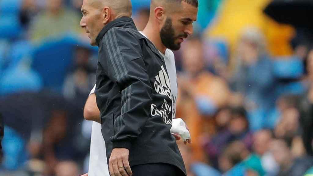 Benzema y Zidane contra el Levante.