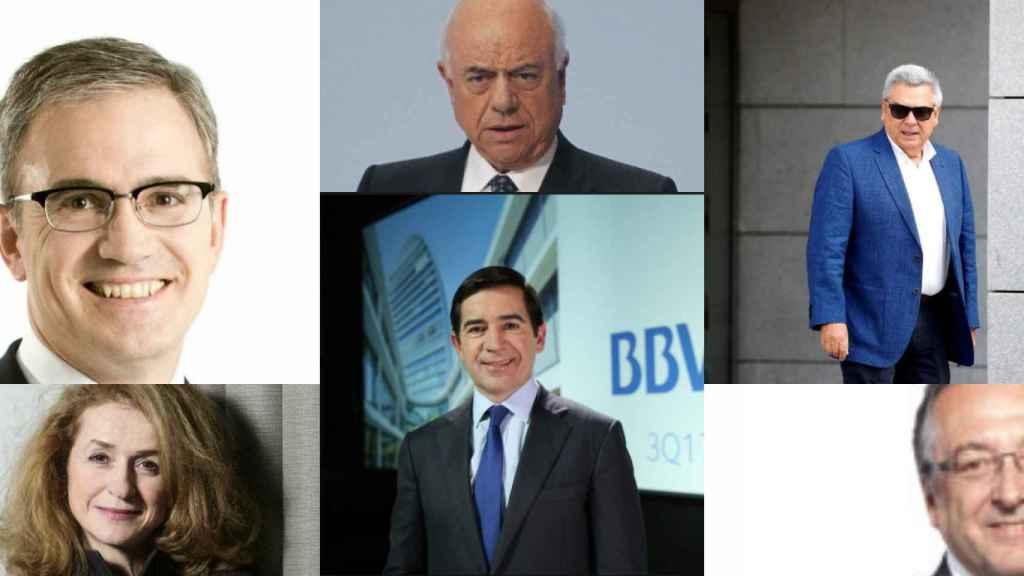 Eduarzo Arbizu, María Jeús Arribas, Francisco González, Carlos Torres, Julio Corrochano y José Luis Santos.