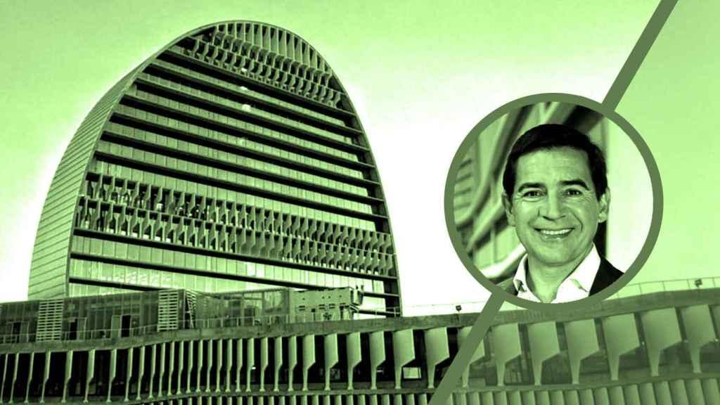 Sede de BBVA y su presidente, Carlos Torres.